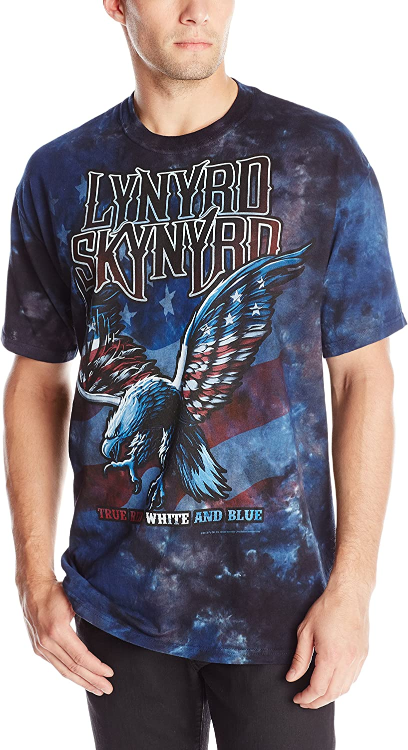 Liquid Blue Men's Lynyrd Skynyrd True Red White and Blue T-Shirt