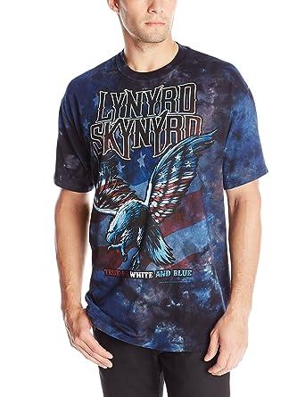 96622b6b4f4ae9 Amazon.com  Liquid Blue Men s Lynyrd Skynyrd True Red White and Blue  T-Shirt  Clothing