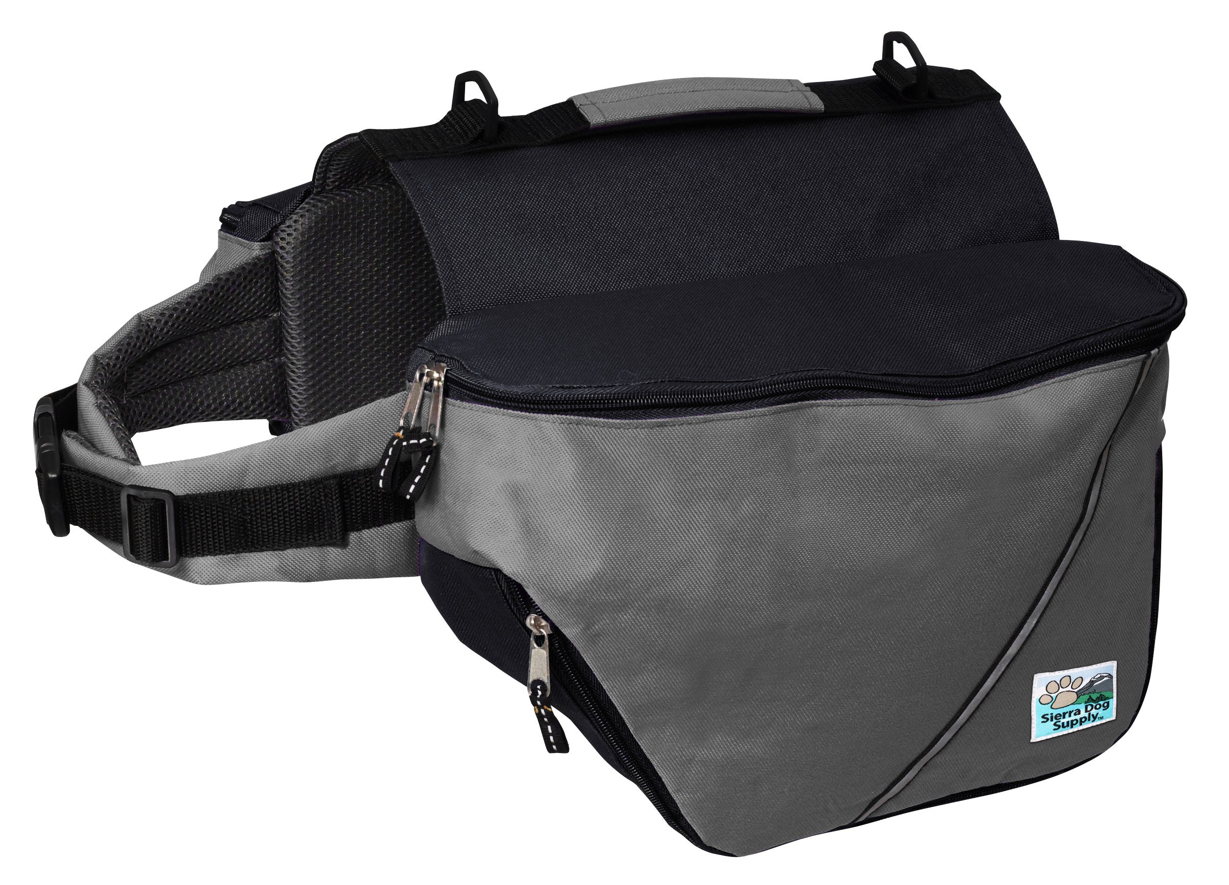 Doggles Dog Backpack, Medium, Gray/Black