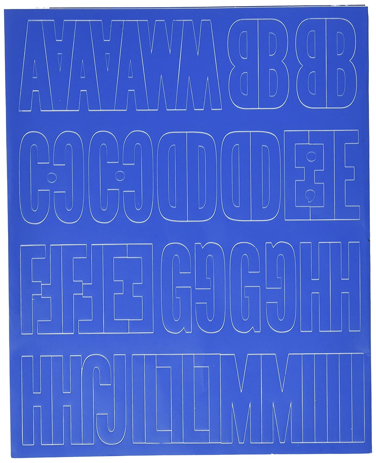 Graphic Products Permanent Adhesive Vinyl Letters and Numbers 2-Gothic/Blue Notions - In Network 3215BLUE