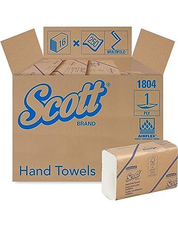 SCOTT* Airflex* Toallas Secamanos Multifold 1804 - 250 toallas de color blanco y 1