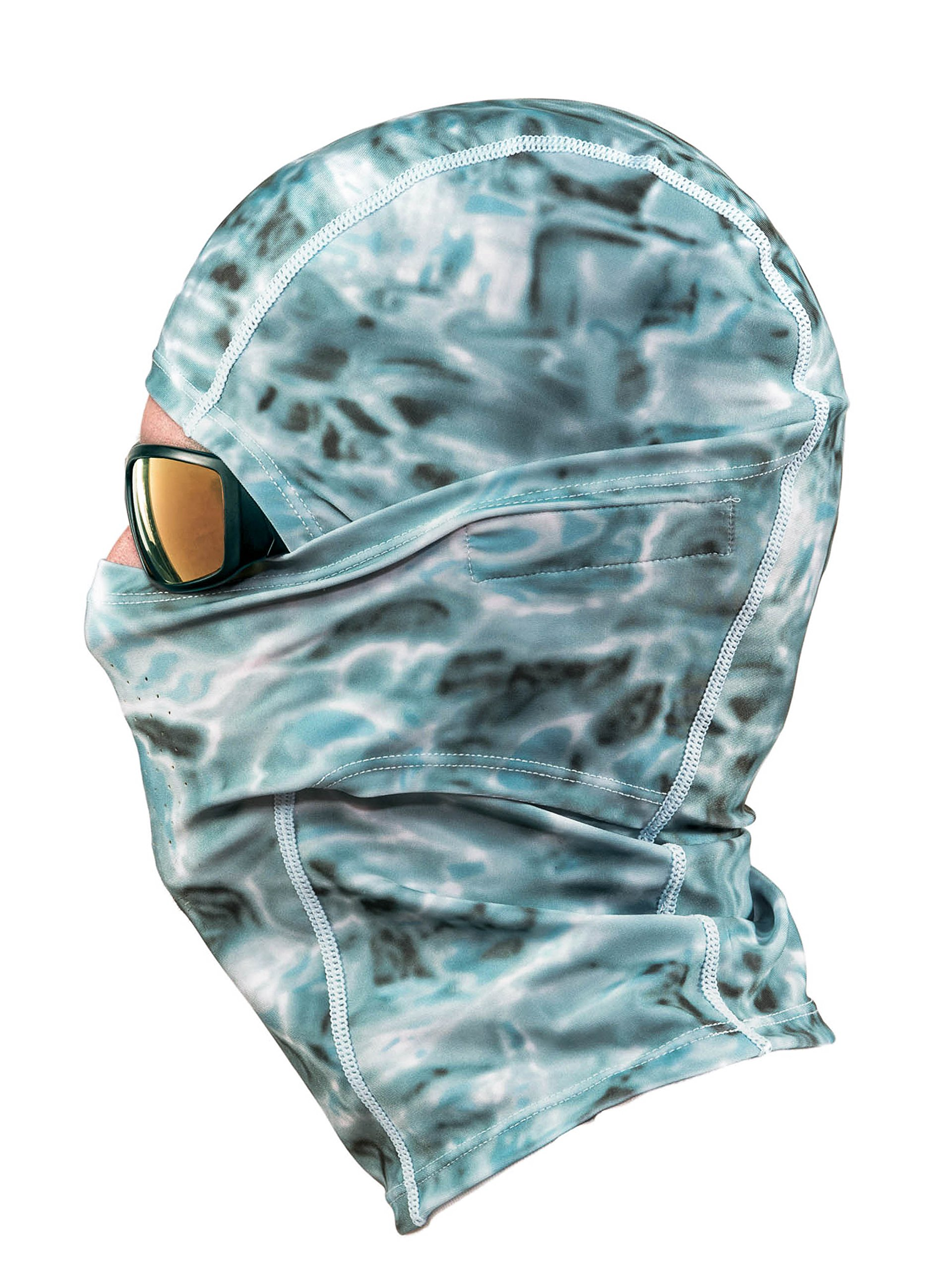 Aqua Design: Cool Weather Mens Face Mask UPF50+ Sun Wind Helmet Liner Balaclava: Aqua Sky by Aqua Design (Image #3)