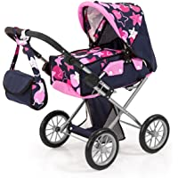 Bayer Design Neutro Cochecito de muñeca, City Star, Color Azul, Rosa, 45X35X58X5Cm