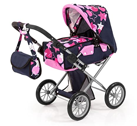 Bayer Design Neutro Cochecito de muñeca, City Star Color Azul, Rosa 45X35X58X5Cm 13669AA