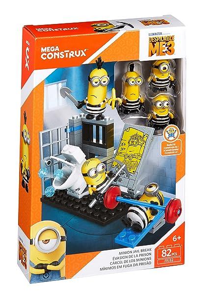 b2be22b45a Amazon.com  Mega Construx Despicable Me Minion Jail Break Building Set  Toys    Games