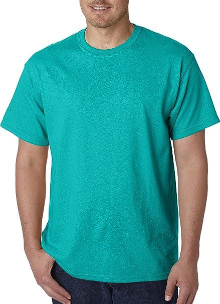 c49159d07d4 Gildan Mens 5.3 oz. Heavy Cotton T-Shirt G500 -TROPICAL BLU M