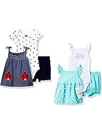 Carter's Baby-Girls 6-Piece Bodysuit Tee and Short Set Shorts Set