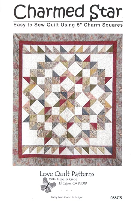 Amazon Charmed Star Quilt Pattern Charm Pack 40 Squares Impressive Quilt Patterns