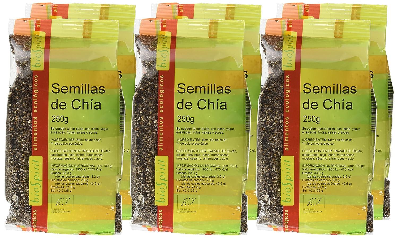Biospirit Semillas de Chia Bio - 6 Paquetes de 500 gr - Total: 3000 gr: Amazon.es: Alimentación y bebidas