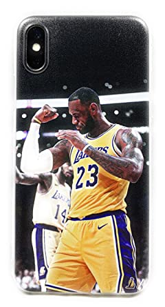 194abf58c2cbb4 ECHC The King in LA Basketball Soft Case Compatable with iPhone (James  Flex