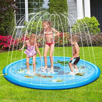 Amazon.com: TUPARKA Upgraded Splash Pad Outdoor Sprinkler Mat ...