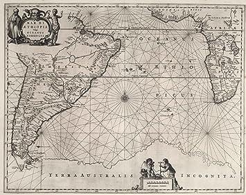 Chart Atlas | 1650 Mar di Aethiopia vulgo Oceanus Aethiopicus. | Historic Antique Vintage Map