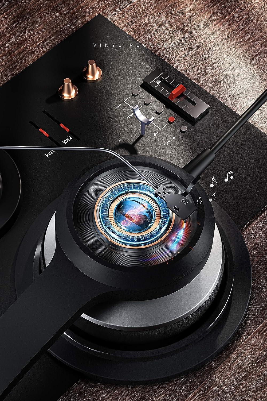 Mpow 328 - Auriculares USB de 3,5 mm para ordenador con micrófono, auriculares empresariales ligeros con tarjeta de audio para la reducción del ruido, ...