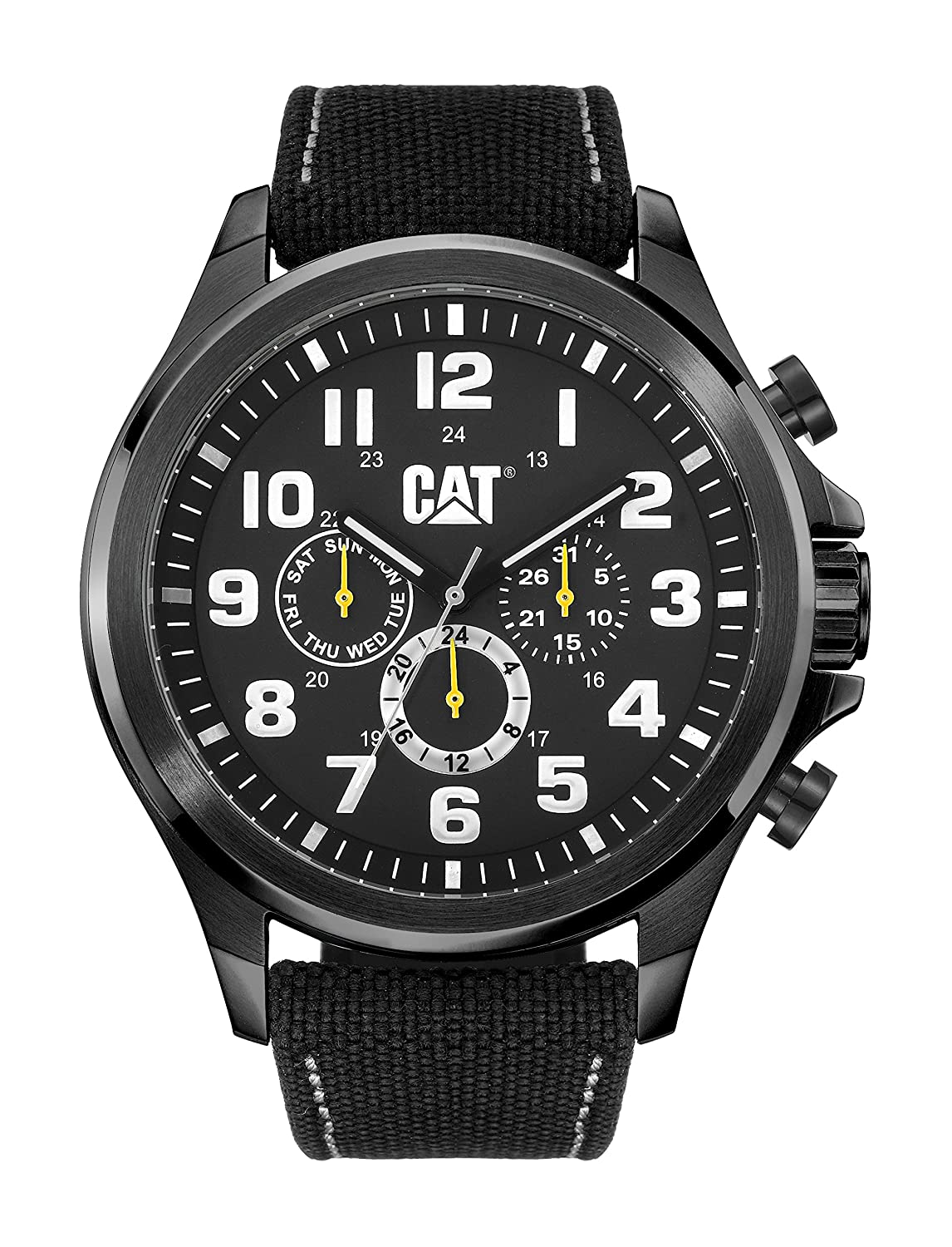 CAT WATCHES Herren Armbanduhr Chronograph Quarz Leder PU.169.64.111