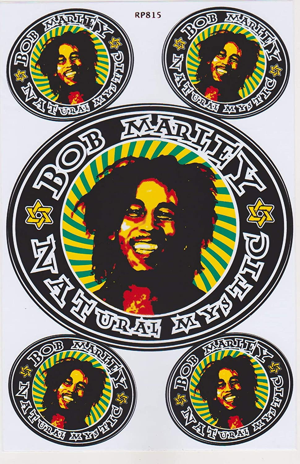 Amazon com vinyl sticker decal label rasta reggae bob marley one love jamaika music cannabis mariuhana leaf bike car 1 sheet 28x18 cm