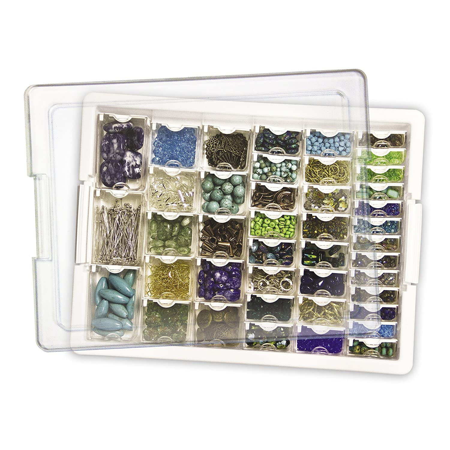 Amazon.com Darice Elizabeth Ward Bead Storage Solutions 45-Piece Assorted Storage Tray 42 Containers of Various Sizes with a Tray and Lid for Beads and ...  sc 1 st  Amazon.com & Amazon.com: Darice Elizabeth Ward Bead Storage Solutions: 45-Piece ...