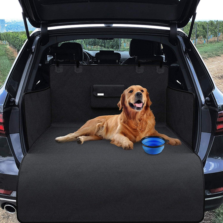Universal Kofferraumschutz Für Hund Mit Ladekantenschutz Napf Beutel Tasche Auto Hundedecke Rutschfest Wasserdicht Waschbar Weich Kofferraum Schondecke Kofferraummatte Hundematte Autodecke Haustier