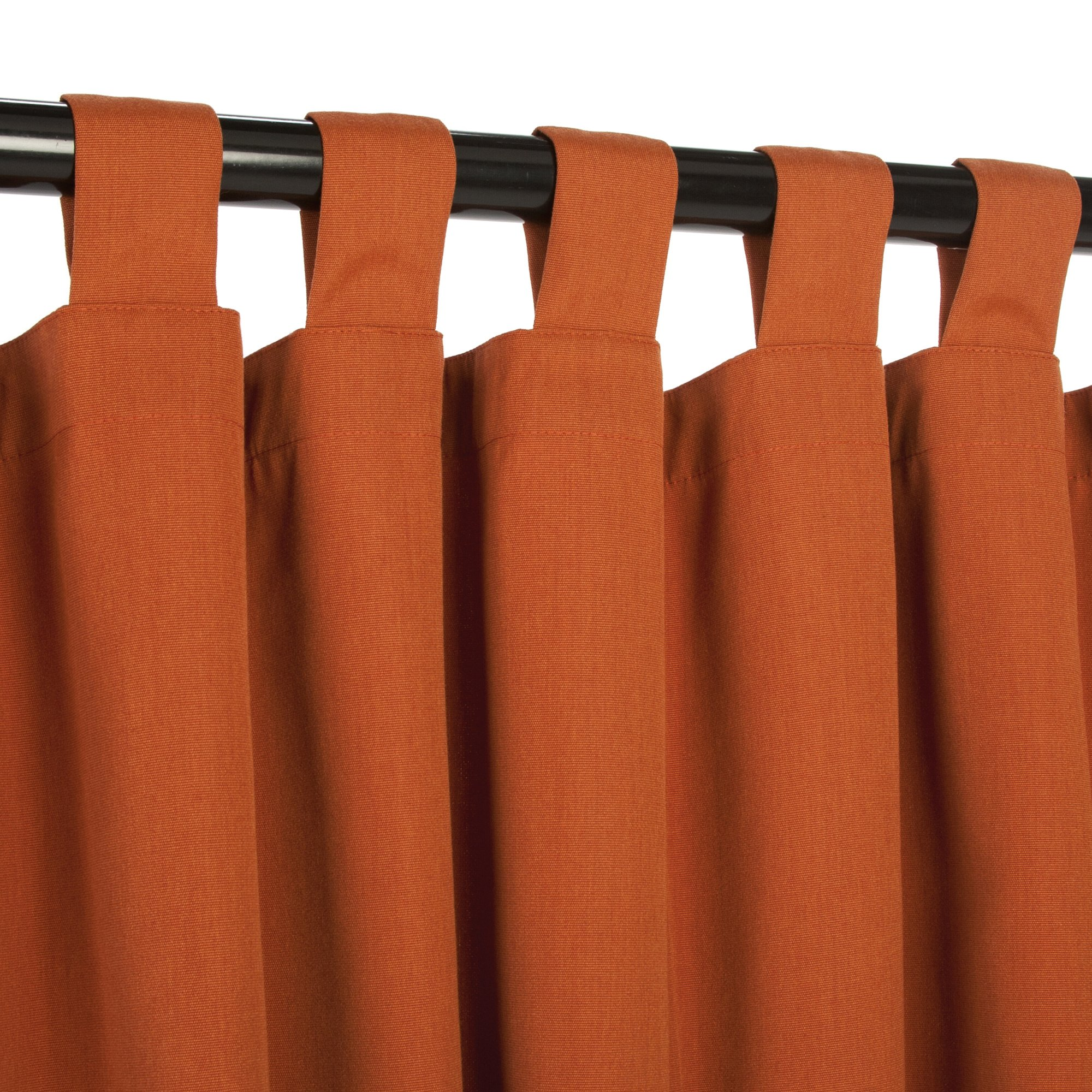 Sunbrella Outdoor Curtain Panel, Tab Top, 50 by 108 Inch, Rust and Sizes Includes Custom Storage Bag; Perfect for Your Patio, Porch, Gazebo, Pergola, and More
