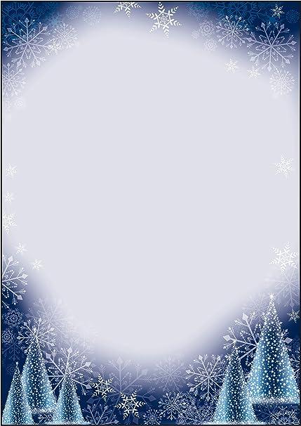 Sigel Dp017 Papier à Lettre De Noël Sapin Et Flocons De