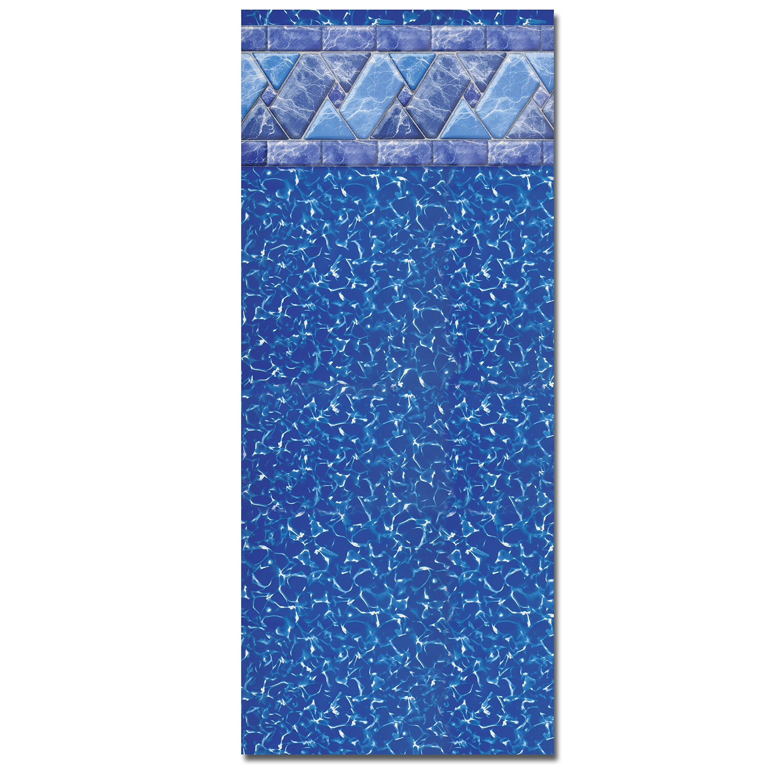 24 Foot Round Unibead Above Ground Pool Liner for 52 Inch Beaded or J-Hook Sidewalls - Riverstone - 25-Gauge by In The Swim
