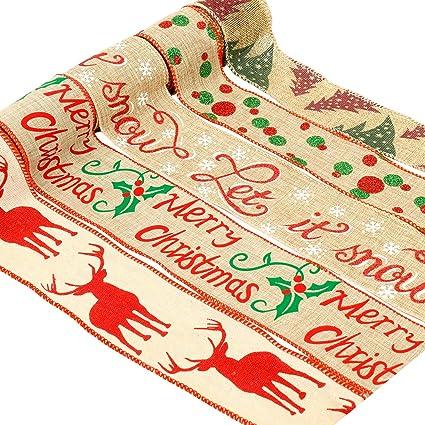 BLACK /& SILVER 15mm CHRISTMAS RIBBON BUNDLES 4 x 2M PACK GIFT WRAP WREATHS CRAFT