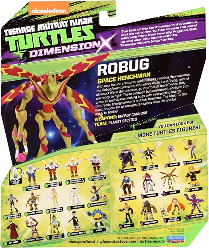 Teenage Mutant Ninja Turtles Robug TMNT Action Figure  New in Package!!