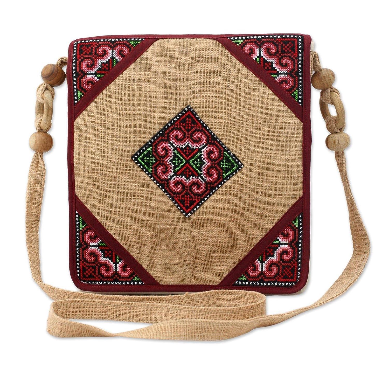 Amazon.com: Novica Multicolor cáñamo bolsa de hombro ...