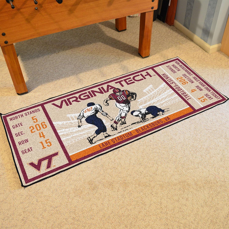FANMATS NCAA Virginia Tech Hokies Techticket Runner Team Color One Size