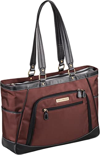 Clark Mayfield Sellwood Metro XL Laptop Tote 17.3 Bordeaux Brown