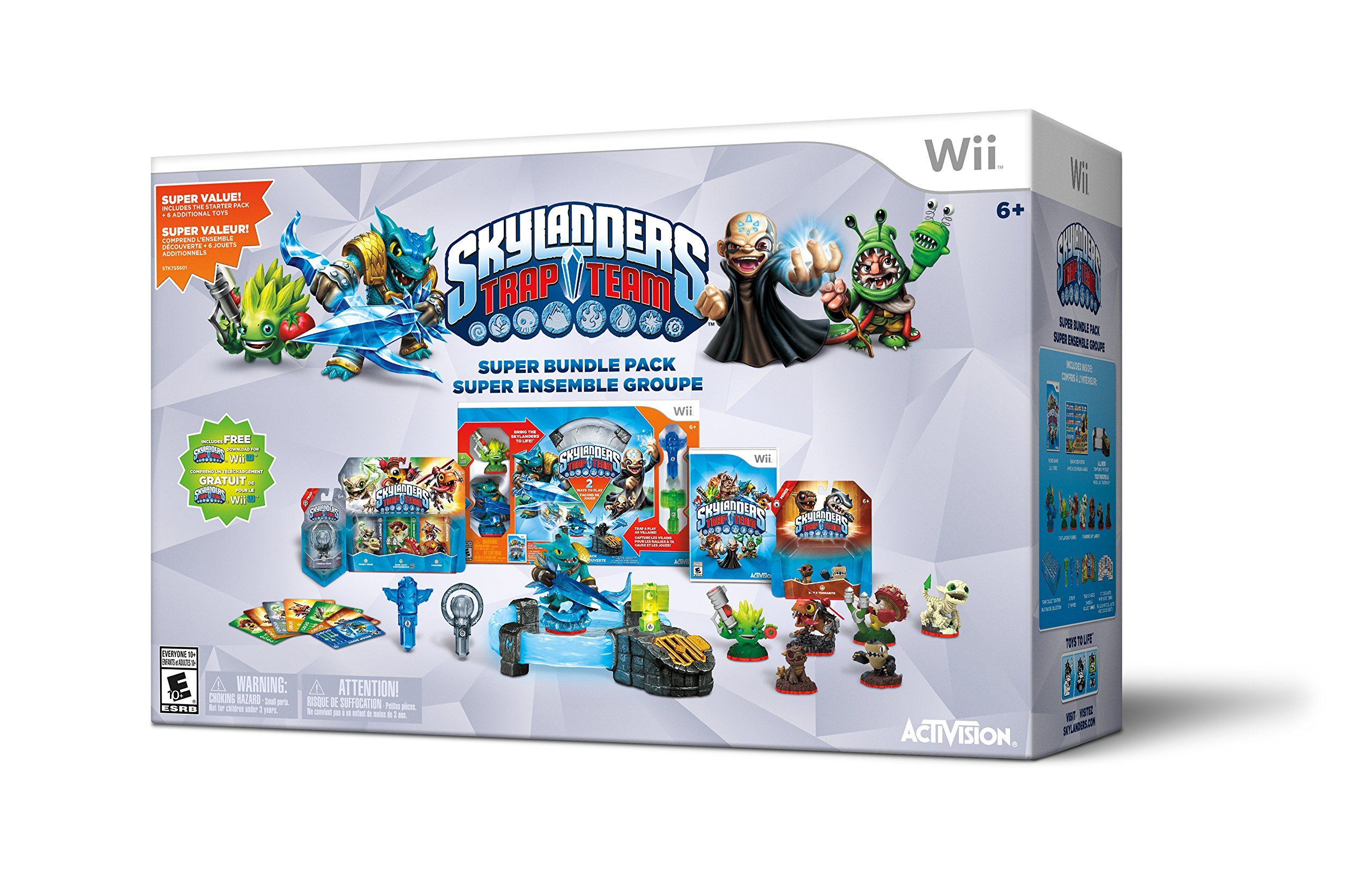 Uncategorized Skylanders Trap Team Videos amazon com skylanders trap team holiday bundle pack wii wii