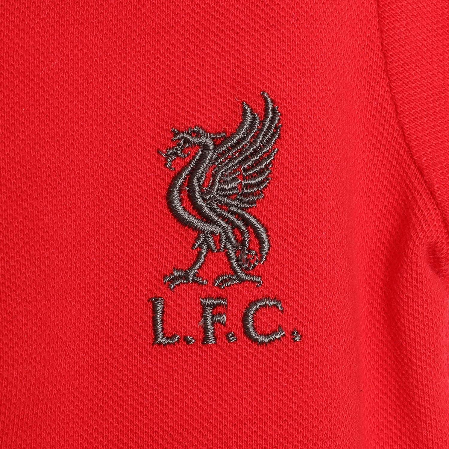 Liverpool FC Baby 2-Pack Polos Shirt Charcoal//Red LFC Official
