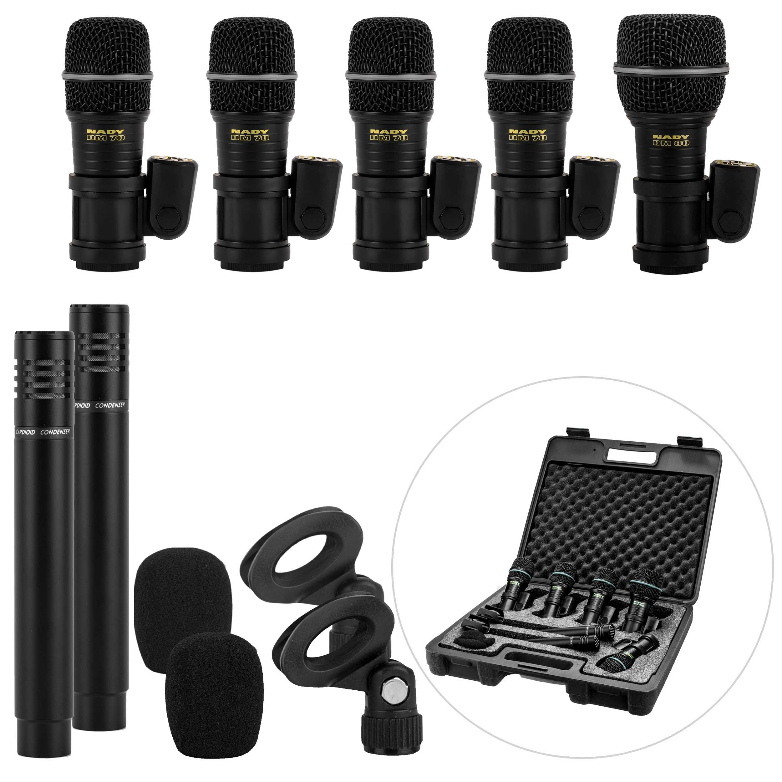 Nady DMK-7 7-Piece Drum Microphone Kit by Nady