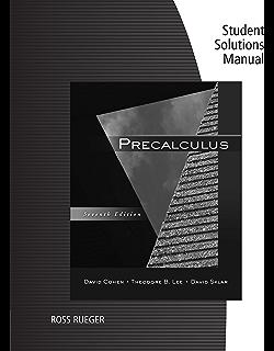 Precalculus 007 david cohen theodore b lee david sklar amazon student solutions manual for cohenleesklars precalculus 7th fandeluxe Images