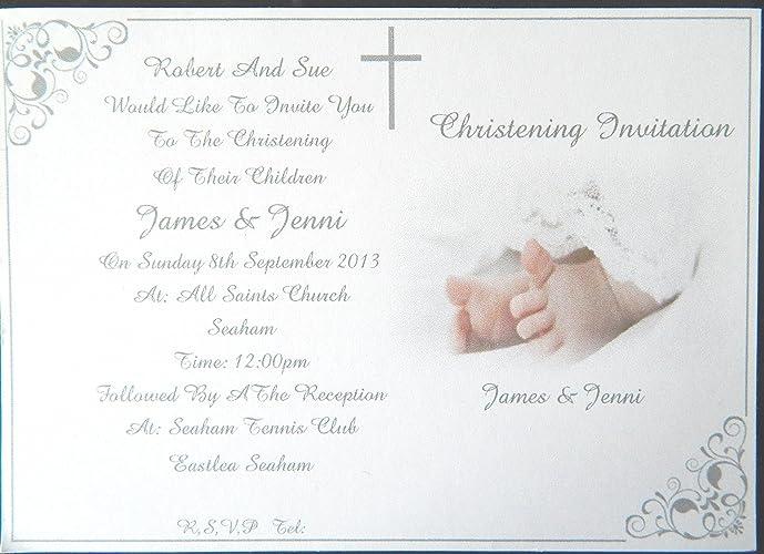 25 50 75 or 100 x personalised christening baptism invitations 25 50 75 or 100 x personalised christening baptism invitations girl boy stopboris Images