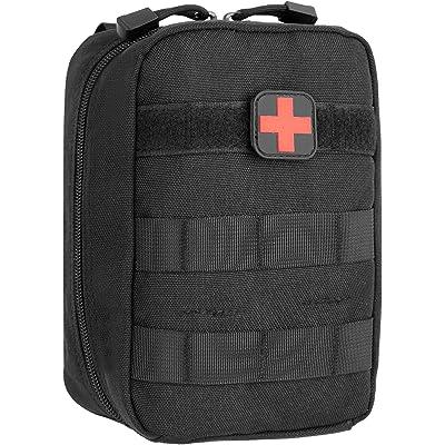 DCCN Bolsa de Primeros Auxilios Médica al Aire Libre MOLLE Sistema Utilidad Bolsa con Parche de Primeros Auxilios