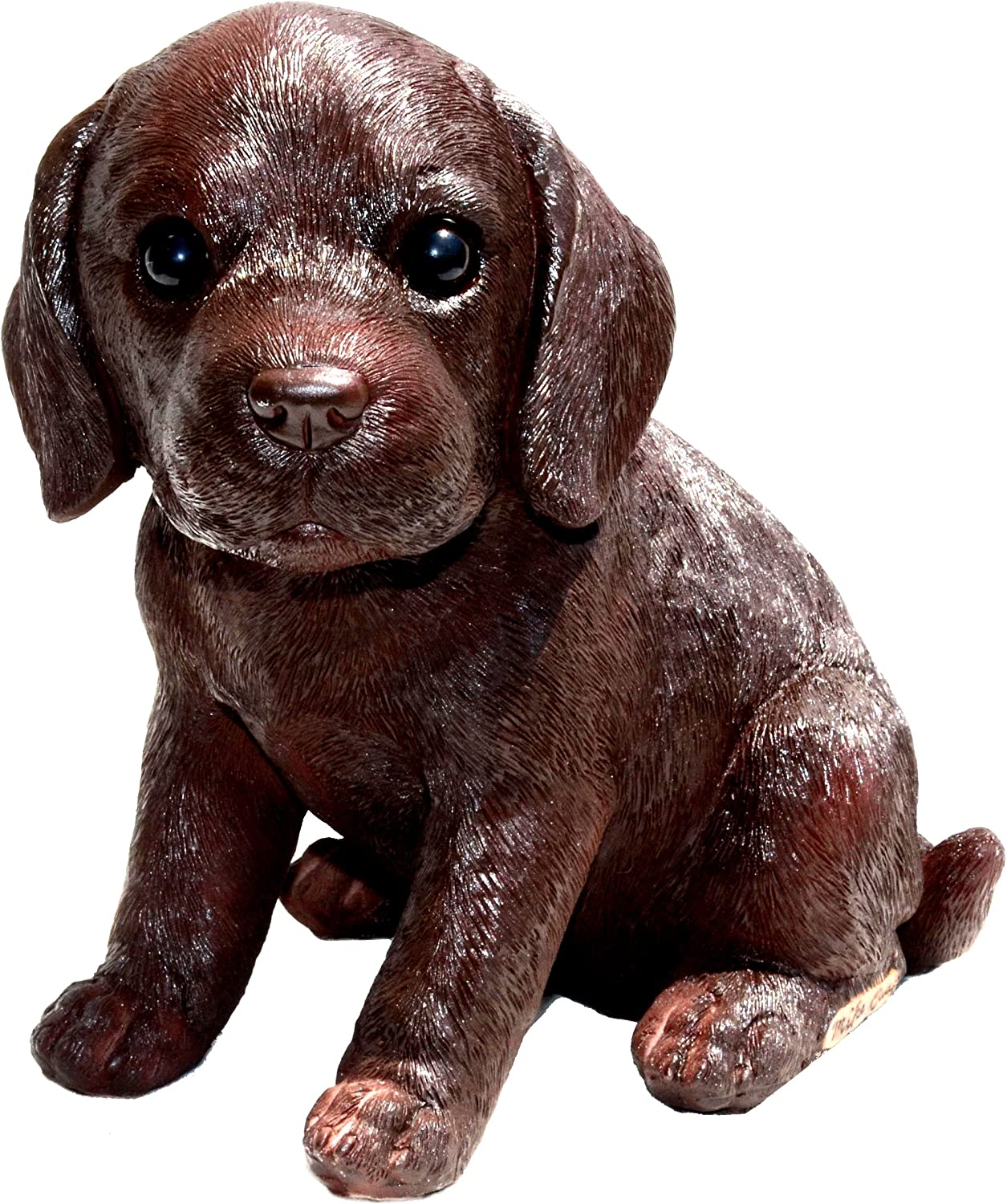 Michael Carr Designs Chocolate Labrador S Fudge Puppy Love Outdoor Dog Figurine for Gardens, patios and lawns (80101)