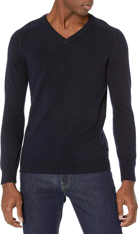 Billy Reid Mens Extrafine Merino Wool Cashmere Pullover V-Neck Sweater