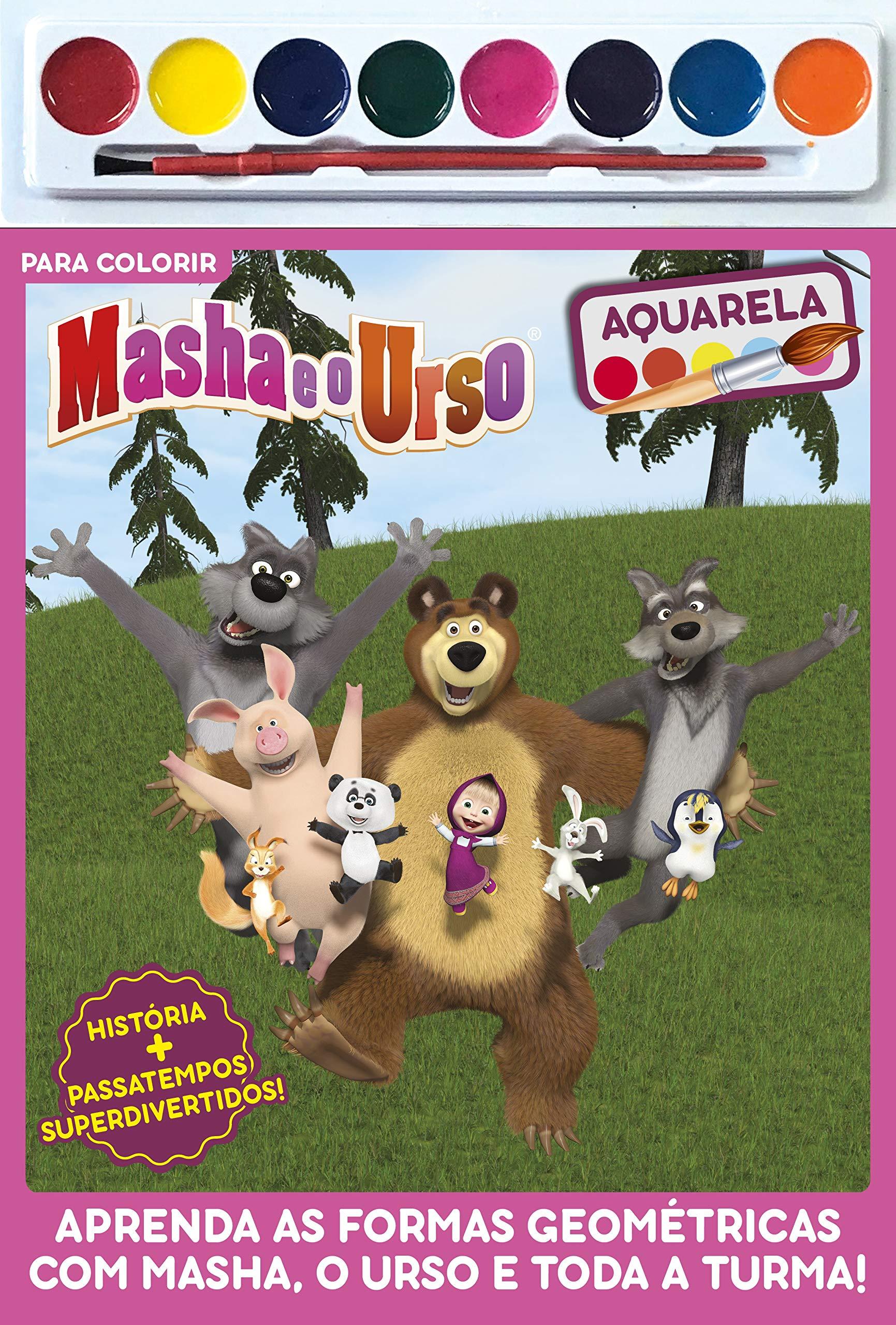 Masha E O Urso Para Colorir Varios 9788543222998 Amazon Com