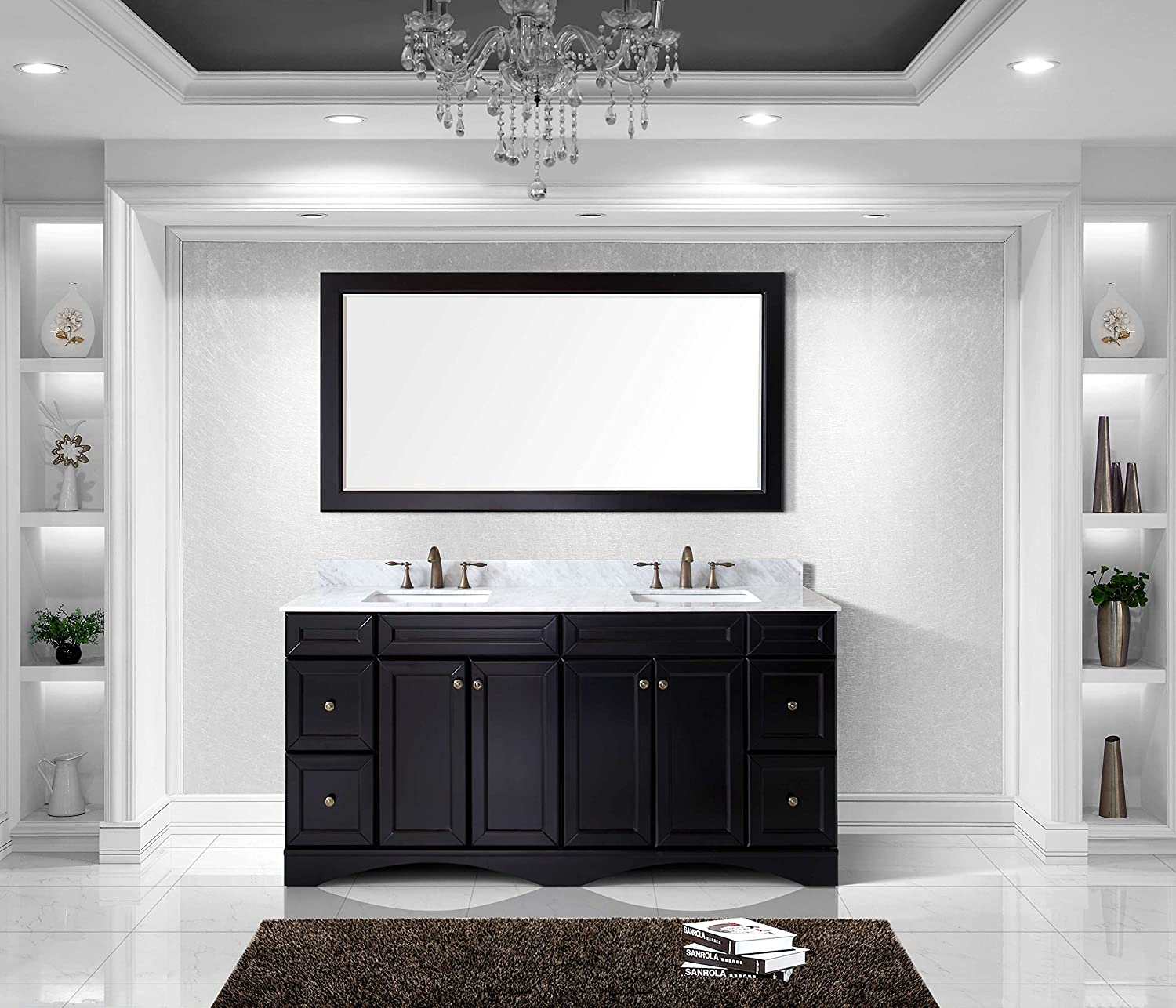 72 inch double sink vanity. virtu ed-25072-wmsq-es talisa double bathroom vanity cabinet set, 72\ 72 inch sink