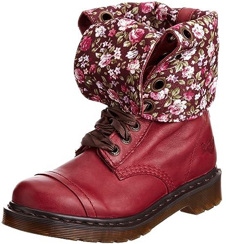 Dr. Martens Triumph 1914 Mirage, Botas Militares para Mujer, Rojo, 43 EU: Amazon.es: Zapatos y complementos