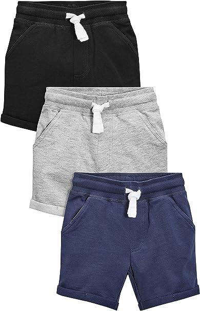 next Niños Pack De Tres Pantalones Cortos (3 Meses - 6 Años) Corte Estándar Negro/Azul Marino/Gris 5-6 años: Amazon.es: Ropa y accesorios