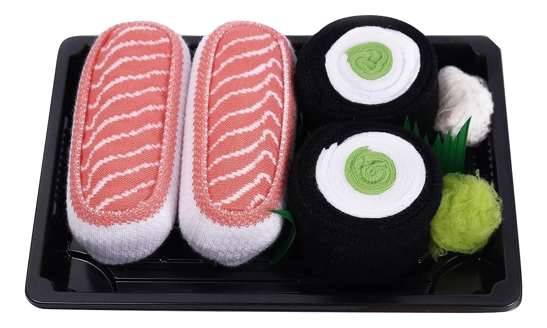 Calcetines del Sushi pares de calcetines: Maki de Pepino Salmón Traordinario Regalo