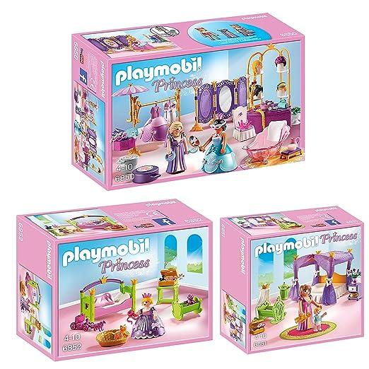 PLAYMOBIL® Princess set en 3 parties 6850 6851 6852 salon de beauté ...