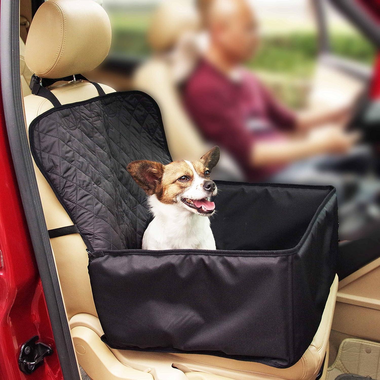thinkpet asiento delantero de la perrera, de viaje para perro mascota, impermeable, antideslizante con anclajes funda de asiento, para coches camiones y SUV ...