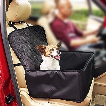 thinkpet asiento delantero de la perrera, de viaje para perro mascota, impermeable, antideslizante