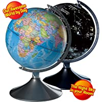 Amazon best sellers best geographic globes interactive globe for kids 2 in 1 day view world globe and night view gumiabroncs Image collections
