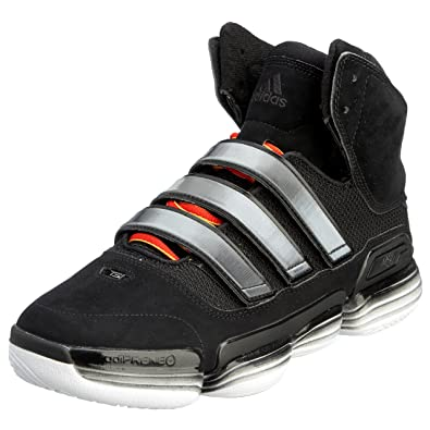 adidas Men's TS Supernatural Commander Basketball Shoe,Black/Black/Red,6.5 M