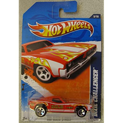 Hot Wheels 2011-165 Dixie Challenger HW Main Street RED 1:64: Toys & Games