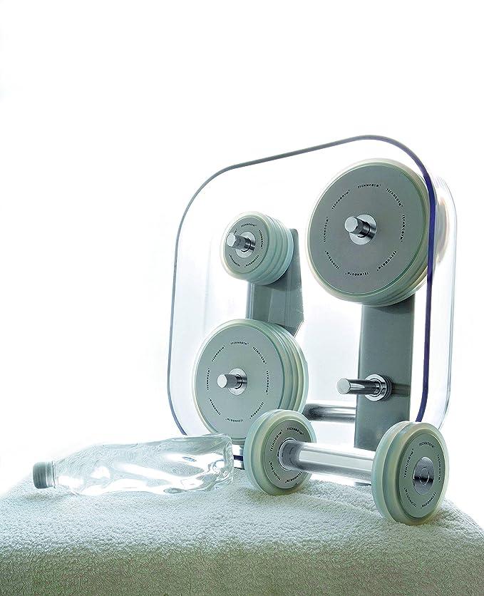 Technogym Wellness Rack - Kit de Mancuernas para Fitness, Color Plateado: Amazon.es: Deportes y aire libre