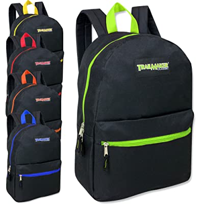 17 Inch Backpack - 5 Pop Colors Case Pack 24